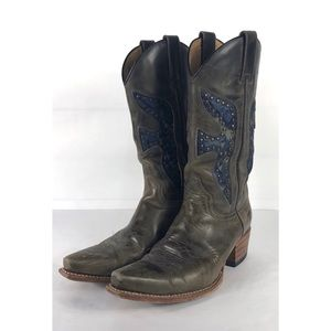 Frye Daisy Duke Cowboy Boots Vintage Size 7